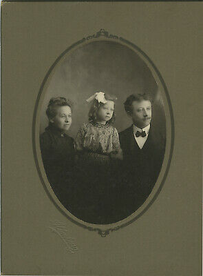 Two Vintage Matted Family Photographs of Miller Family from Springville New York