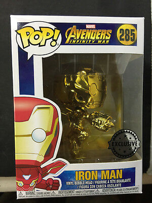 Funko POP! Marvel #285 Gold Chrome Iron Man Avengers Infinity War Exclusive F146
