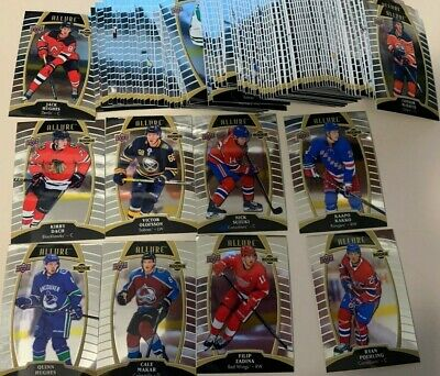 2019-20 Upper Deck UD ALLURE Complete base set wth Rookies 1-100 Hughes Makar RC