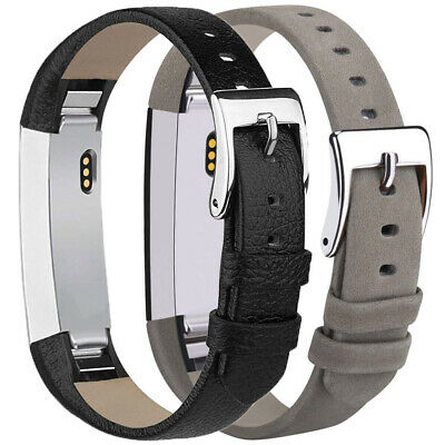 LD_ For Fitbit Alta HR Genuine Leather Watch Replace Band Wrist Strap Adjustab