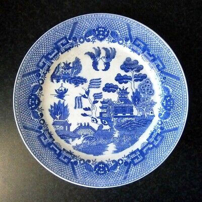 Very Old Antique Vintage Japanese China Blue Willow Pattern 24Cm Plate