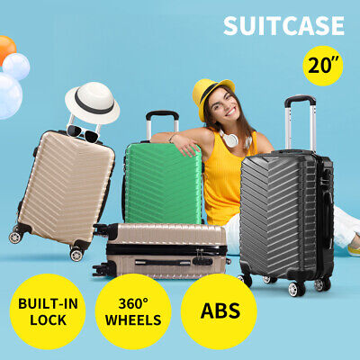 "20"" Travel Luggage Suitcase Case Carry On Luggages  Lightweight Trolley Cases"
