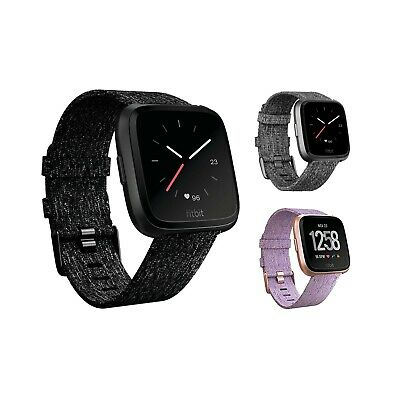 Fitbit Versa Smartwatch Special Edition Woven Band Fitbit Pay New Open Box