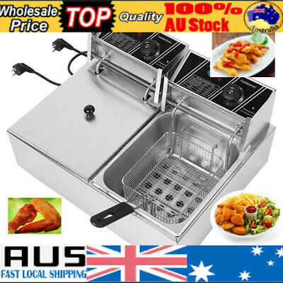Commercial Use Economical Double Cylinder Deep Fryer Electric Countertop 5000w