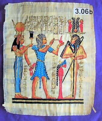 Egyptian Papyrus*Isis wife of Osiris wearin*30x40 cm*Additional-$8.00*ep.A-3.06b