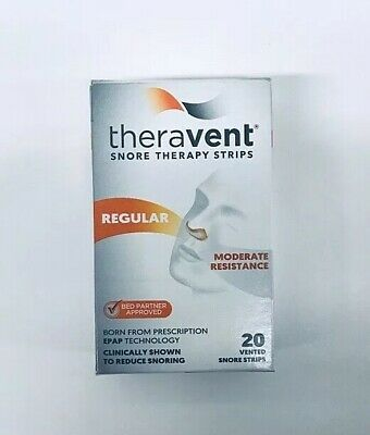 2 Theravent Snore Therapy Regular 40 Strips total New in Box