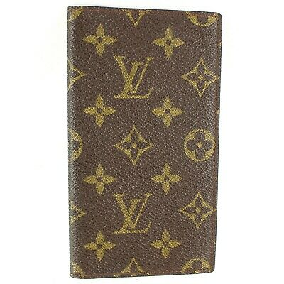 LOUIS VUITTON POCKET DIARY Notebook Day Planner Cover Monogram M56340 Brown