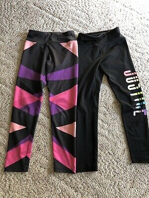 2 pairs Of Girls Justice Leggins Size 8