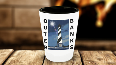 OBX Shot Glass Outer Banks Shot Glass NC Cape Hatteras Lighthouse North Carolina