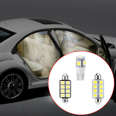 14x White LED Auto Car Interior Light Lamp Bulbs Package Accessories Universal
