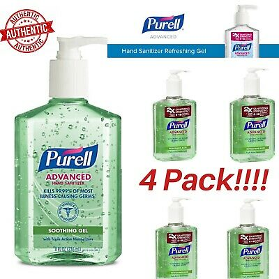PURELL Hand Sanitizer Liquid 8oz Advanced (Pack Of 4) 2x Strength ~FAST/FREE SHP