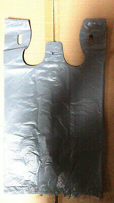 500pcs Grey Singlet Plastic Shopping Bag Grocery Bags 2814501 (NOT POST TO VIC)