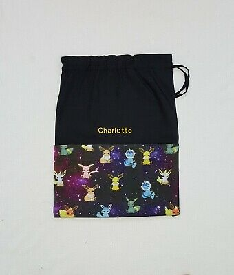 $Free Embroidery Name Pokemon Night Sky Personalised Library Bag Fd Kinder