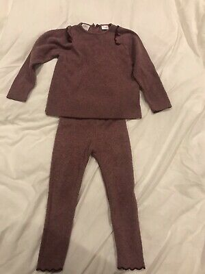 Zara Girls Knitted Set Outfit Size 4-5 Years
