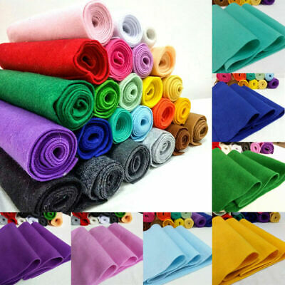 Non Woven Soft Felt Fabric Metre 1.4mm Thick DIY Craft Material Color 20/90*90cm
