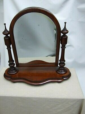 Antique Victorian Mahogany Carved Cheval Shaving Swing Mirror C.1880