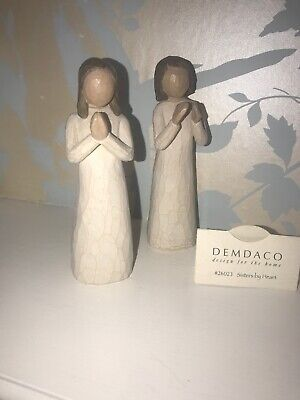 "Willow Tree "" Sisters By Heart"" Figures . Collectable . Susan Lordi 2000"