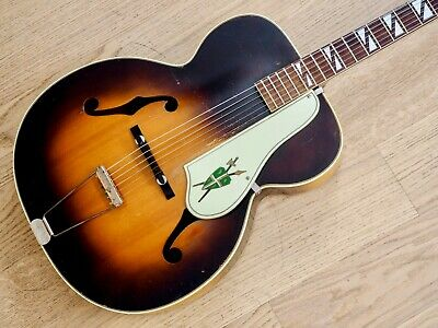 1950s Silvertone Model 670 Vintage Kay-Made USA Archtop Acoustic Guitar w/ Case