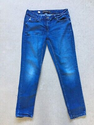 Next Womens Relaxed Skinny Jeans Mid Blue Size 12R Exc Cond
