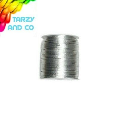 2mm Silver Satin Nylon Cord DIY Silicone Bead Was Teething Necklace Jewellery