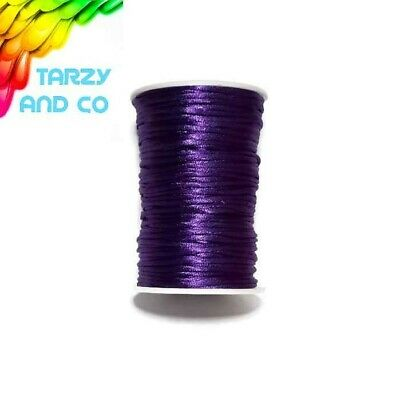 2mm Purple Satin Nylon Cord DIY Silicone Bead Was Teething Necklace Jewellery