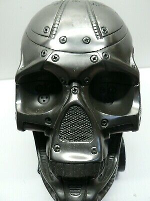 Heavy Metal Skull Ornament In The Style Of Steam-Punk