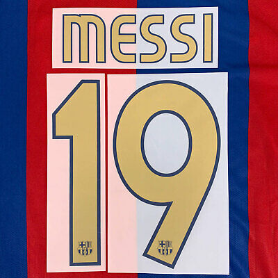 2006-07 Barcelona Player Issue Name Set #19 MESSI for Shirt Jersey