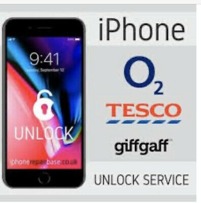 O2 ,Tesco, Giffgaff Factory Unlock Code For iPhone X 8+ 8 7+ 7 6s+ 6s 6+ 6 SE 5