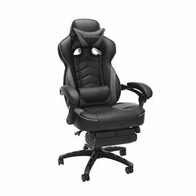 RESPAWN 110 Racing Style Gaming Chair, Reclining Ergonomic Leather Chair Gray