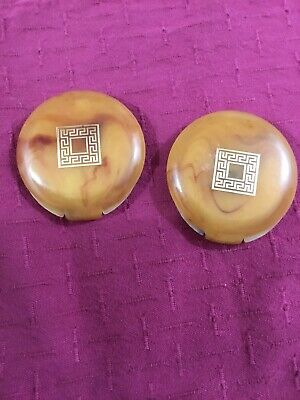 Vintage (2)Revlon Super Sheer Love Pat Powder Compacts Transparent 1 Mirrored