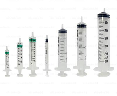 BD Emerald Syringes 2ml 5ml 10ml Individually Wrapped Grade Oral Hypodermic