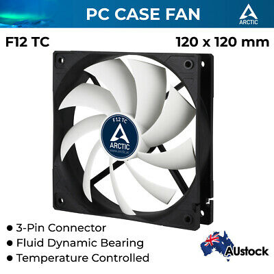 Arctic Cooling F12 TC 120mm 3-pin Temperature Controlled Case Fan Quiet and Effi