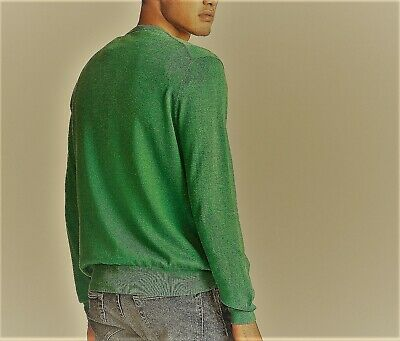 Nyc Designer Polo Ralph Lauren Pima Cotton Jumper Rrp £125 Vgc Sweater Emerald