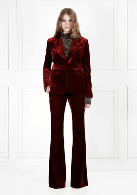 Rachel Zoe - Ruby Red Hall Velvet Flared Pants - Size 6 - NEW UNWORN WITH TAGS