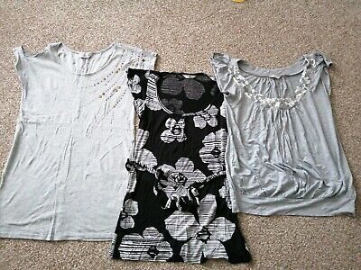 Maternity Tops Bundle Sparkle Party Size 12 Dorothy Perkins New Look