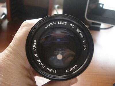 Vintage Canon Fd 1:3.5 135Mm Lens With Caps Nice Cond