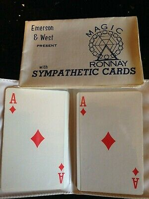 Emerson & West Sympathetic Cards Magic Ronnay
