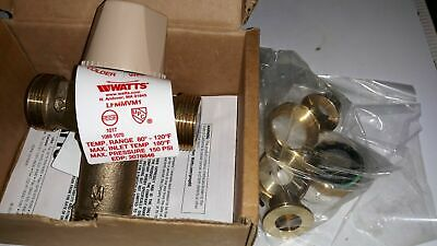 """Watts 1/2"""" LFMMVM1-US Lead Free Thermostatic Mixing Valve"""