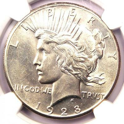 1928 Peace Silver Dollar $1 - NGC Uncirculated Dets - Rare 1928-P BU MS UNC Coin