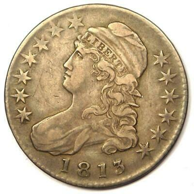 1813 Capped Bust Half Dollar 50C O-105 - Sharp Details - Rare Coin!