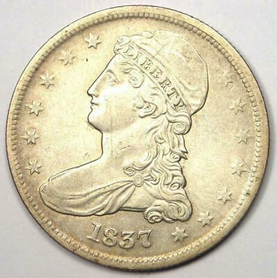 1837 Capped Bust Half Dollar 50C - Sharp Details - Rare Coin!