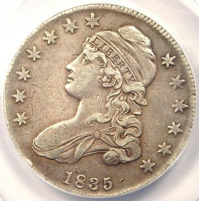 1835 Capped Bust Half Dollar 50C O-105 - ANACS AU50 Detail - Rare Certified Coin
