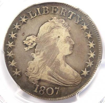 1807 Draped Bust Half Dollar 50C O-104 - Certified PCGS VF Details - Rare Coin!