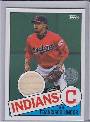 2020 Topps Series 1 Francisco Lindor 1985 Baseball Bat Relic Card 85R-FL Indians