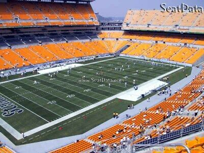 (2) Steelers vs Broncos Tickets Upper Level Section 504 row V Close to the Aisle