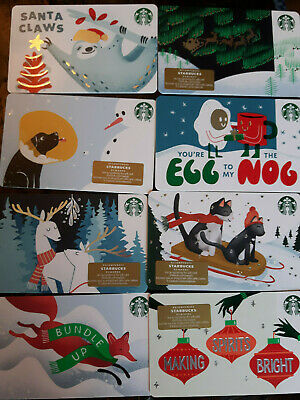 2019-20 NEW Starbucks💙WINTER ASS't Collector gift cards no value💙EMPTY 💙