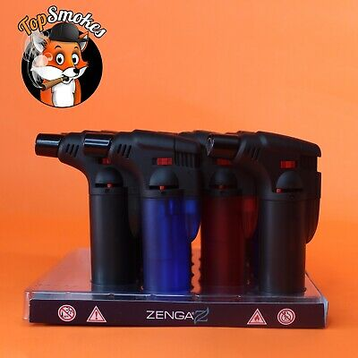 16 Pack Zengaz Butane Torch Lighter Windproof Adjustable Jet Flame Refillable