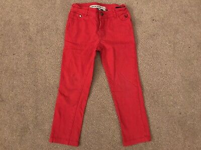 Crew Clothing Red Boys Cotton Trousers Chinos Age 5 Pocket Design And Logo