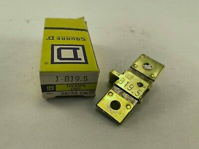 Square D B19.5 Overload Relay Thermal Unit, New