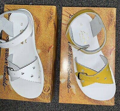 Two Pairs Of Girls Youth Sun San Sweetheart Model Size 13 Sandals!